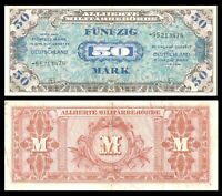Germany - WWII Allied Military Currency 50 Mark 1944 P-196 Banknote