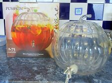 8.8 LITRE 300oz HALLOWEEN PUMPKIN GLASS DRINK WINE PUNCH PARTY JAR TAP DISPENSER