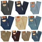 New Mens Levis 501 Prewashed Original Fit Straight Leg Button Fly Jeans Pants