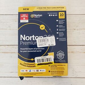 NORTON 360 PREMIUM 2020 (10 DEVICE/1YEAR) (VPN/75GB CLOUD) *NEW in RETAIL BOX!!
