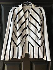 New $109 Chico's Black & White Striped Ottoman Jacket Size 3 = XL 16 18 NWT Ecru