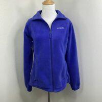 Columbia Fleece Sweater Women's Size Small Long Sleeve Full Zip Collared Jacket