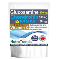 Glucosamine Sulphate,Chondroitin,MSM & Vitamin C Complex Joint Care  360 Tablets