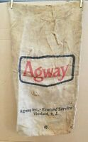 Vintage Agway Feed Seed Gunny Sack Burlap Bag Vineland Service Vineland N.J.