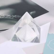 3D Egypt Shape Crystal Pyramid Ornament Reiki Chakra Healing Amulet Home Decor