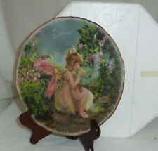 Enchanted Dreams Bradford Exchange ripple edge Fairy 8in porcelain plate 36701