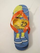 Nip Boys The Simpsons 29 Years Blue Yellow Flip Flops~Size M 1-2