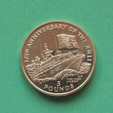 1999 Isle of Man RNLI 175th Anniversary £5 Crown Virenium SNo43530