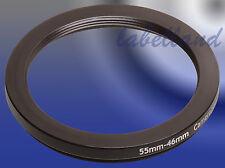55mm-46mm 55-46 Filtro Anello Adattatore converte 55 mm LENS thread Per 46mm A CASCATA