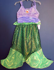 New Disney Parks Authentic ARIEL Little Mermaid Costume Dress Girls S (6/6X)