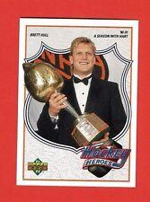 1991-92 Upper Deck BRETT HULL HEROES # 8 Brett Hull 90-91 A SEASON WITH HART