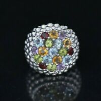 Exquisite STERLING SILVER RING SIZE 7.5 with zircone stones