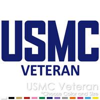 UNITED STATES MARINE CORPS VETERAN USMC EMBLEM ARMY VINYL DECAL STICKER (MC-02)