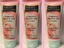 ~Lot~ Body Fantasies ~ Rose Petal Fantasy Hand Cream s ~ 2 oz / 59ml Each