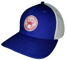 Huk Performance Head Gear A Flex Bait Crab Patch Blue Fishing Hat Cap OSFA