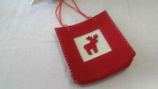 NEW  Red Reindeer Christmas Felt Tote Bag  Fill with Christmas Gifts ?