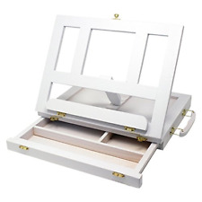 ZagGit Desktop Adjustable White Wood Art and Book Easel - Light Weight, Sturdy