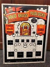 Vintage Store Display GlobeMaster Brass Padlock Advertising Masonite Sign Castle