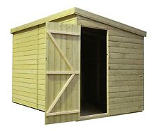 10X4 GARDEN SHED SHIPLAP  PENT ROOF TANALISED PRESSURE TREATED DOOR RIGHT END