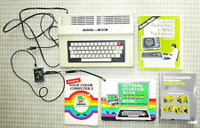 Vtg Radio Shack TRS-80 64K Color COMPUTER 2 & Original Old Manual/BASIC Book Lot