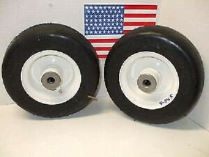 Walker Mower FLAT FREE Tire part 5715-3 Deck Caster Wheels (2)