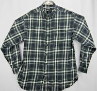 Polo Jeans Co. Ralph Lauren Mens Shirt Large Long Sleeve Button Up Flannel Plaid