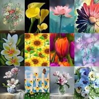 5D DIY Full Drill Diamond Painting Flowers Cross Stitch Mosaic Craft Kits Decor