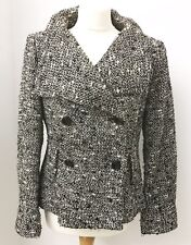 Ladies ZARA Woman Black Gold Silver Metallic Jacket. Uk 16.
