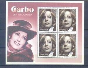 SWEDEN BLOCK GRETA GARBO 2005 MNH