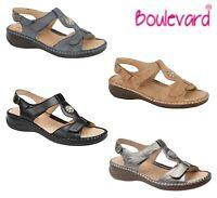 LADIES HALTER BACK Adjustable Sandals - Black Taupe Navy Grey - Size 3 4 5 6 7 8
