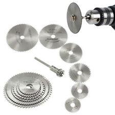 7PCS discos de rueda de corte mandril de acero de alta velocidad hojas de sierra circular Giratorio Herramienta Corte Madera