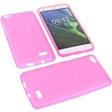 Tasche für Acer Liquid Z6E Handytasche Schutz Hülle TPU Gummi Case Pink