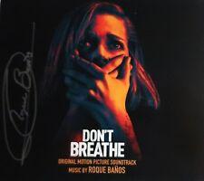 DON'T BREATHE Roque BANOS Baños CD Signed AUTOGRAPHED Score SOUNDTRACK New!