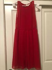 NEW DVF Diane Von Furstenberg Sleeveless Dress Red Size 14