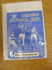 07/01/1961 Reading v Barnsley [FA Cup] (Team Changes, creased). This item has be
