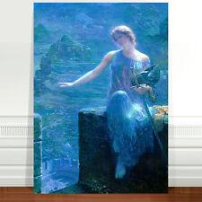 "Edward Robert Hughes, The Valkyrie's Vigil ~ FINE ART CANVAS PRINT 16x12"""