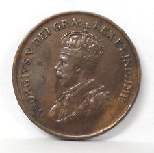 1924 Canada Bronze 1 Cent Km28 George V - VF #01263912g