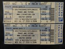 Drake And Future Unused Vip Tickets United Center Chicago 2016 $700 Face Value