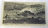 1882 small magazine engraving ~ 1880 Wolseley's Capture Of Sekukuni's Stronghold