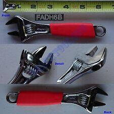 "New Snap On 6"" Cushion Grip FLANK DRIVE Plus Adjustable Wrench - FADH6B - Spain"