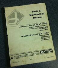 Jacobsen GKV GK5 Greens King Greensking 5 Parts Manual