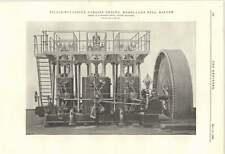1895 motor triple expansión Corliss páramos Molino Bolton