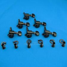 Schaller Concentric Style Lock Tuners Pegs Machine Heads Fits Fender 6R Black