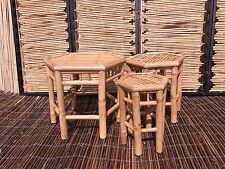 Bambushocker Bambus Bambustisch Beistelltisch Blumenhocker 3 er Set Neuware