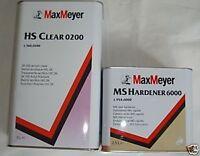 Max Meyer HS 0200 5L MS HARDENER 6000 2.5L 2K CLEAR COAT Lacquer Car Paint Kit