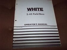 1980  White 2-45 Field Boss Tractor Operator's  Manual