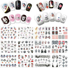 24PCS Halloween Nail Art Sticker Skull Bone Water Transfer Costume Manicure DIY