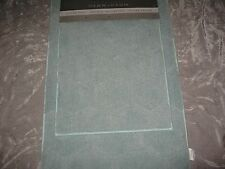 2 pc Bath Rug Set Green Super Soft Absorbent Nonskid Polyester Bathroom NEW!
