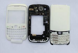 White Housing cover faceplate case fascia facia for BlackBerry Curve 8520 white