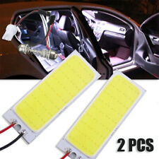 Auto 2pcs 12V Xenon HID White 36 COB LED Dome Map Light Bulb Interior Panel Lamp